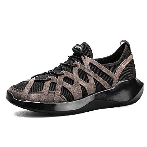 Feifei Chaussures Homme Printemps Et Automne Mode Tendance Chaussures Décontractées Et Résistantes À L'usure 3 Couleurs (choix Multiples) (couleur: Gris, Dimensions: Eu42 / Uk8.5 / Cn43) Kaki