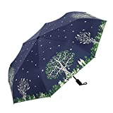 D & X Happy Tree Creative Folding Umbrella Small Fresh And Bella Princess Umbrella Rain or Sun Dual-use