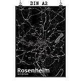 Mr. & Mrs. Panda Poster DIN A2 Stadt Rosenheim Stadt Black