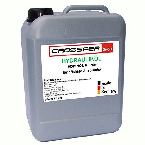 5 Liter Kanister ADDINOL HLP46 Hydrauliköl für Hydraulikpressen, Holzspalter usw. entspricht der DIN 51524-2 und DIN EN ISO 6743-4