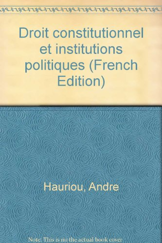 Droit constitutionnnel et institutions politiques