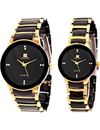 IIK Collection Analogue Black Dial Men'S And Women'S Watch IIK013M-1002W
