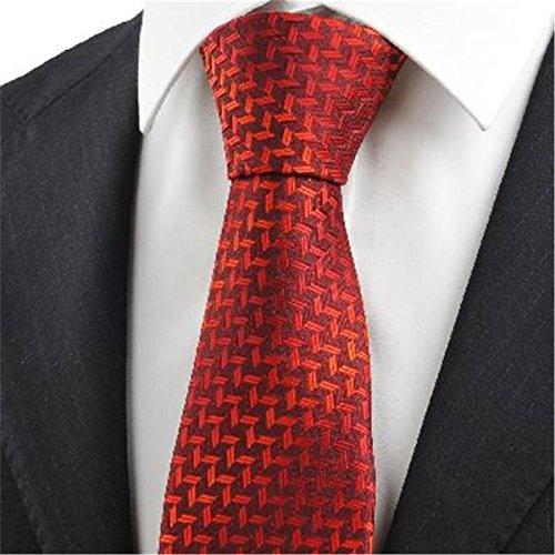 rote burgunder diamanten muster männer krawatte krawatte (Diamant-muster-krawatte)