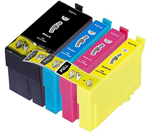 4 Dougalas Inks Cartucce d'inchiostro compatibili con Epson 27XL Epson 27 Epson WF-7210 DTW Epson WF-7710 DWF Epson WF-3620DWF Epson WF-3620 Epson WF-7620 Epson WF-7610DWF Epson WF-7720 DTWF