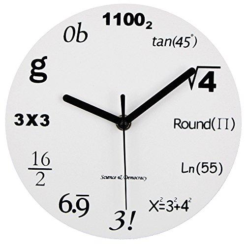 hematik, Einzigartige Wanduhr, Wanduhr modernes Design, Uhr Jede Stunde Mathematik-Gleichungen durch eine einfache mathematische Gleichung. 12