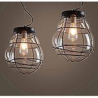 BBSLT-Lampadari in vetro di soggiorno sala da pranzo country americano,