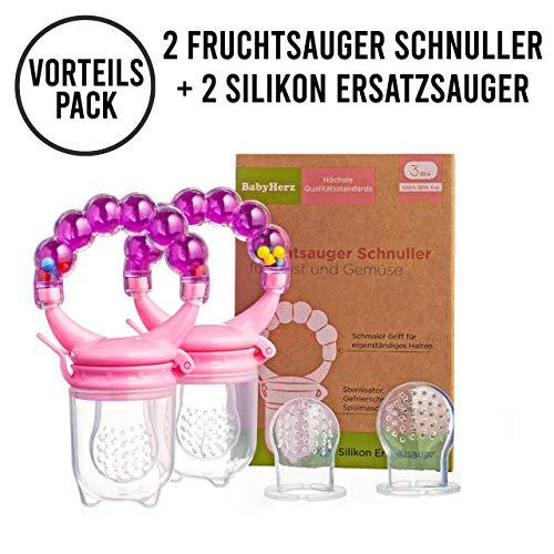 primamma 44012400 Fruchtsauger mit Schutzkappe Doppelpackung