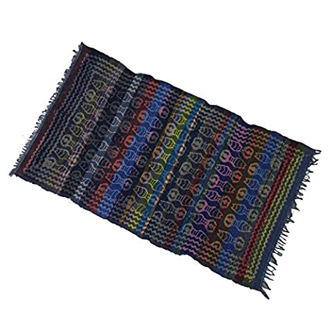 Chindi Cotton Stripe Rug Main Tapis Tissé Recyclé Main Rags