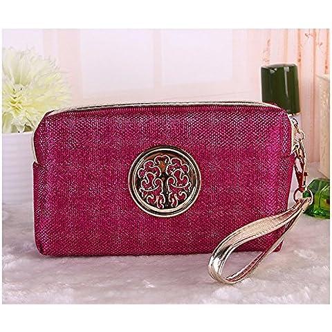 Viaggiare con Signore sacchetti cosmetici Portable Storage Borse Viaggio multifunzionale piccola borsa,rosa rosso
