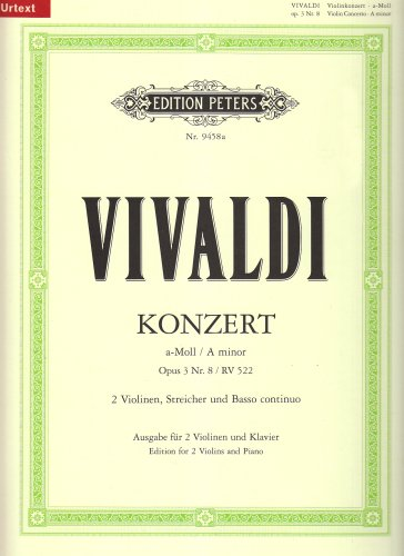 Concert 08 a-Minor Opus 3 Rv522 Violon