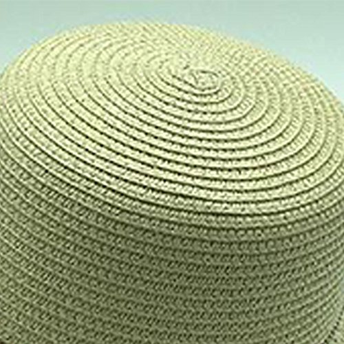 Surker Summer Womens Weave Straw Sun Hat Anti-UV Hat Beige