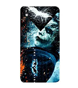 For HTC Desire 816 :: HTC Desire 816 Dual Sim :: HTC Desire 816G Dual Sim dangrous man, blue background, man Designer Printed High Quality Smooth Matte Protective Mobile Case Back Pouch Cover by APEX