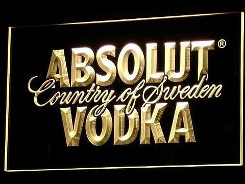 Absolut Vodka LED Zeichen Werbung Neonschild Gleb (Werbung Absolut Vodka)