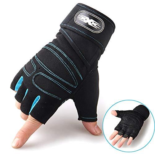 L.Z.HHZL Handschuhe Handschuhe halber Finger Guantes Fitness Gym Workout Wear Outdoor-Handschuhe für Männer, Frauen Fitness-Handschuhe (Color : Grün, Size : L)