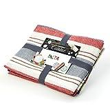 Lumaland Paños de cocina Serie Ibiza en cuatro colores. 4 piezas por juego.100 % Algodón 50 x 70 cm Gris