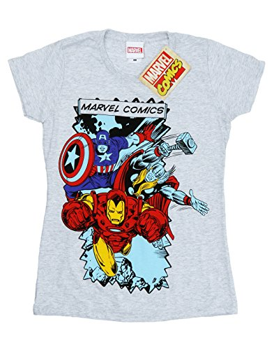 Marvel Femme Comic Characters T-Shirt Heather Gris