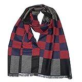 Evil Wear XL Schal Herren Schals extra lang Damen-Schal kXL Herren Damen Schals extra lang Herbst Winter super weich soft grau rot