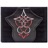 Cartera de Kingdom Hearts Símbolo Rojo y Plata Negro