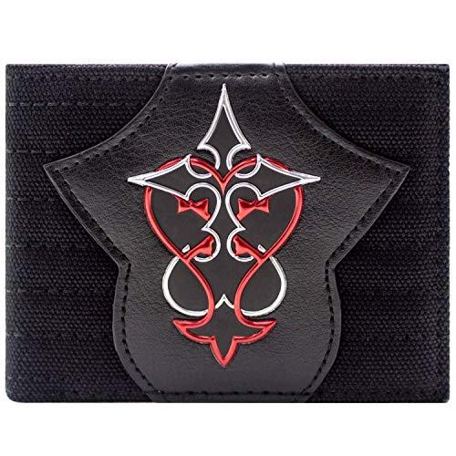 Kingdom Hearts Rotes & Silbernes Symbol Schwarz Portemonnaie Geldbörse -