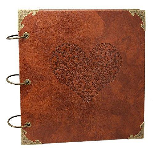 Fotoalbum Special Scrapbook DIY Anniversary Scrapbook Album, Vintage Foto Album, Love Herz Hochzeit Album. by XIDUOBAO ()
