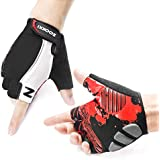 Zookki Cycling Gloves Mountain Bike Gloves Road Racing Bicycle Gloves Light Silicone Gel Pad Biking Gloves Half Finger Bicycling Gloves Riding Gloves Men/Women Work Gloves