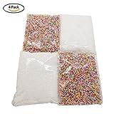 Eightnight 4Packs Mini Rainbow Foam Styrofoam Boules Lots Assortiment Coloré 0.08 à 0.14 pouces Art Artisanat Perles Utilisation pour Slime, Mariage DIY et Décorations de fête coloré blanc