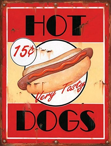 �Cent Hot Dogs Retro Vintage Blechschild Bar Country Home Decor 25,4x 33cm ()