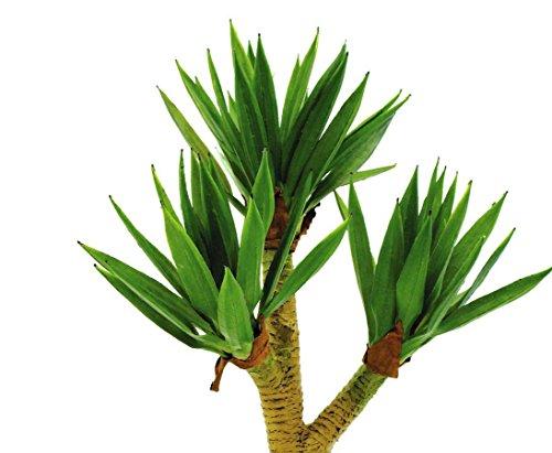 Yuccapalmbusch, künstliche Palme im Zementtopf, 57 Blätter, Höhe ca. 105cm – Kunstpalmen Dekopflanzen