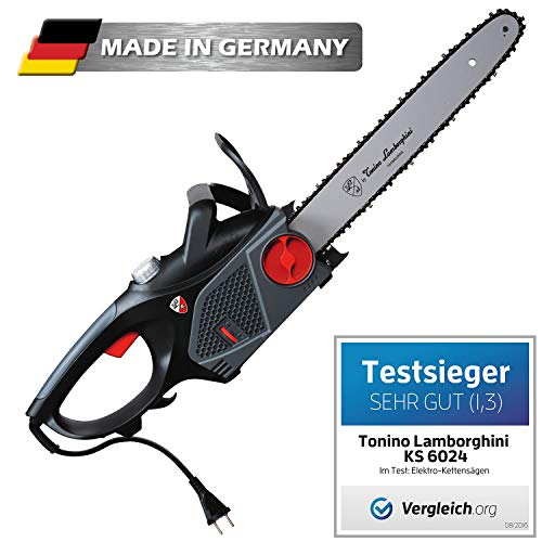elektro kettensaege 40cm Tonino Lamborghini Elektro Kettensäge KS 6024 Schnittlänge 40cm 2.400 Watt Made in Germany