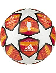 adidas Finale M J290, Pallone Calcio Uomo, Top:White/Active Scarlet Red Bottom:Bright Orange/Solar Gold/Black, 4