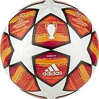 adidas Finale M J290, Pallone Calcio Uomo, Top:White/Active Scarlet Red Bottom:Bright Orange/Solar Gold/Black, 5