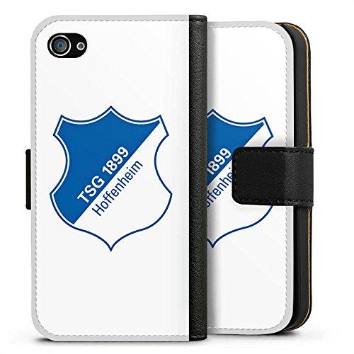 Apple iPhone X Silikon Hülle Case Schutzhülle TSG Hoffenheim Fanartikel Fußball Sideflip Tasche schwarz