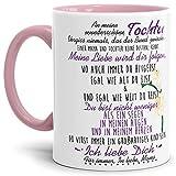 Tasse mit Spruch von der Mama für die Tochter - Kaffeetasse/Familie / Geschenk-Idee/Mug / Cup/Innen & Henkel Rosa
