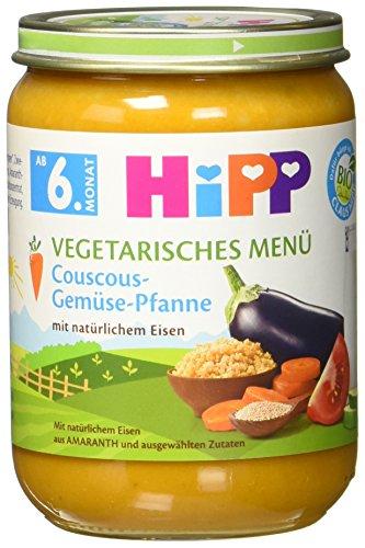HiPP Vegetarisches Menü Couscous-Gemüse-Pfanne, 1er Pack (1 x 190 g)