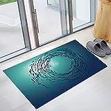 WXDD Wand Aufkleber Dekor Bad Fliesen wc Sanitär solide Simulation Boden wasserfeste Selbstklebende 3D, dunkle Ozean 60 cm * 90 cm