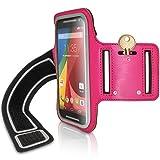 igadgitz U2930 - Brazalete Armband Sports Gym Jogging Para Motorola Moto G E y X, Negro