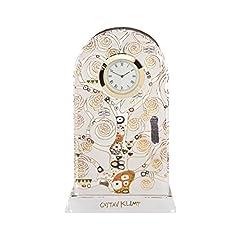 Idea Regalo - Goebel 66-914523-Orologio da Tavolo in Porcellana l' Albero della Vita