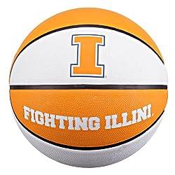 NCAA Illinois Fighting Illini Collegiate Deluxe Official Size Rubber Basketball, 29.5-Inch/Illinois Fighting Illini