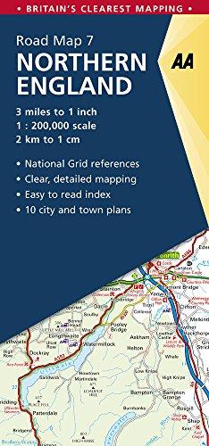 Preisvergleich Produktbild Road Map Britain 07 Northern England 1 : 200 000 (Aa Road Map Britain,  Band 7)