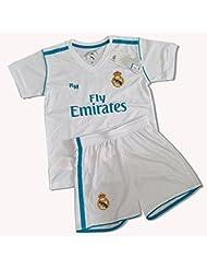 Equipación Infantil Réplica Oficial del Real Madrid Ronaldo Nº 7 Temporada 17/18 (Talla 8)