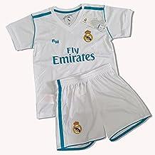 Equipación Infantil Réplica Oficial del Real Madrid Ronaldo Nº 7 Temporada 17/18 (Talla 6)