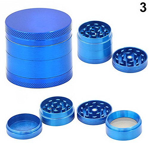 Skyoo Blue 4 Layers Metal Tobacco Crusher Hand Muller Smoke Herbal Herb Grinder 51158E61bcL