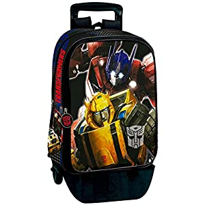 Transformers Mochila con Carro Plegable, Ruedas, Trolley