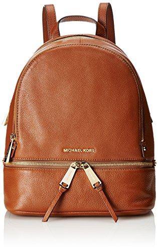 Michael Kors Rhea Zip, Borsa a Zainetto Donna, 24.1 x 31.8 x 12.7 cm (W x H x L) Marrone (Luggage)