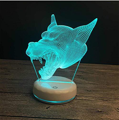 Nachtlicht 3D Tischlampe Kreative Led Cartoon Nachtlicht Fütterung Lampe Usb-Betriebene Lithium-Batterie 21X17X4 Cm 7 Farben H -