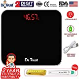 #1: Dr Trust (USA) Electronic Eco Zeus Rechargeable Digital Personal Weighing Scale For Human Body (USB Cable, Thermometer, Measuring Tape Included)