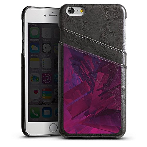 Apple iPhone 6 Housse Étui Silicone Coque Protection Cristal Lilas Motif Étui en cuir gris