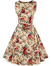 E-Girl M127918D Robe de bal Vintage pin-up 50's Rockabilly robe de soirée cocktail,S-XXXXL