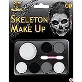 Kit per trucco da scheletro per Halloween - pittura per il viso