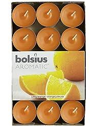 Bolsius Velas Aromáticas Esencia de Té Paquete de 30 - Naranja Jugosa - 103626944484